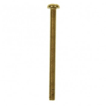 100 M4x50mm Pan Head Brass Screws