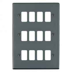 Hamilton Sheer Grid Black Nickel 12 Gang Grid Fix Aperture Plate with Grid