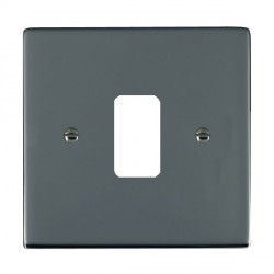 Hamilton Sheer Grid Black Nickel 1 Gang Grid Fix Aperture Plate with Grid