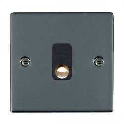 Hamilton Sheer Black Nickel 20A Cable Outlet with Black Insert