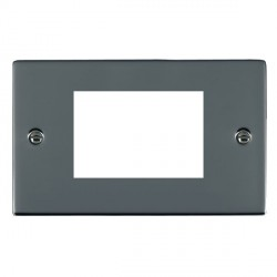 Hamilton Sheer EuroFix Plates Black Nickel Double Plate c/w 3 EuroFix Apertures + Grid