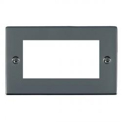 Hamilton Sheer EuroFix Plates Black Nickel Double Plate c/w 4 EuroFix Apertures + Grid