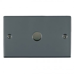 Hamilton Sheer Black Nickel Push On/Off 1000W Dimmer 1 Gang 2 way with Black Nickel Insert