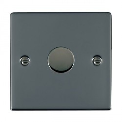 Hamilton Sheer Black Nickel Push On/Off Dimmer 1 Gang Multi-way 250W/VA Trailing Edge with Black Nickel Insert