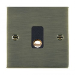 Hamilton Sheer Antique Brass 20A Cable Outlet with Black Insert