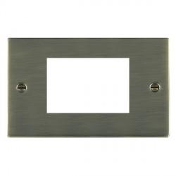 Hamilton Sheer EuroFix Plates Antique Brass Double Plate c/w 3 EuroFix Apertures + Grid