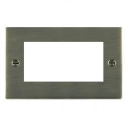 Hamilton Sheer EuroFix Plates Antique Brass Double Plate c/w 4 EuroFix Apertures + Grid