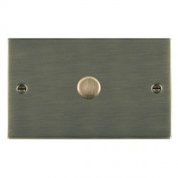 Hamilton Sheer Antique Brass Push On/Off 1000W Dimmer 1 Gang 2 way with Antique Brass Insert