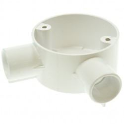 Univolt White 20mm PVC Angle Junction Box