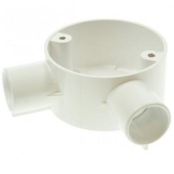 Univolt White 20mm PVC Angle Junction Box