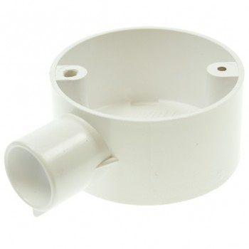 Univolt White 20mm PVC Terminal Box