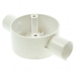 Univolt White 20mm PVC Through Box