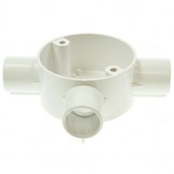 Univolt White 20mm PVC Tee Box