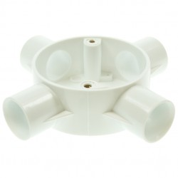 Univolt White 20mm PVC Conduit Box