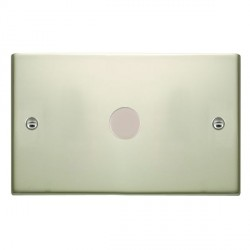 Hamilton Sheer Pearl Oyster Push On/Off 1000W Dimmer 1 Gang 2 way with Pearl Oyster Insert