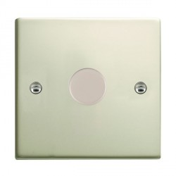 Hamilton Sheer Pearl Oyster Push On/Off Dimmer 1 Gang Multi-way 250W/VA Trailing Edge with Pearl Oyster Insert