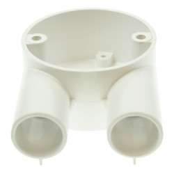 Univolt White 20mm PVC Branch Box