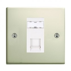 Hamilton Sheer Pearl Oyster 1 Gang RJ12 Outlet Unshielded with White Insert