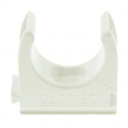Univolt White 20mm PVC Clip