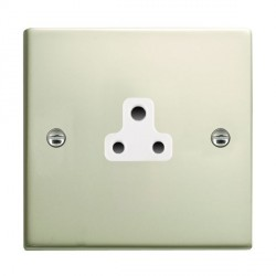 Hamilton Sheer Pearl Oyster 1 Gang 2A Unswitched Socket with White Insert