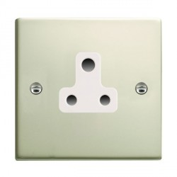 Hamilton Sheer Pearl Oyster 1 Gang 5A Unswitched Socket with White Insert