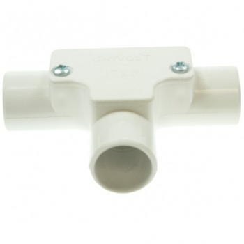 Univolt White 20mm PVC Inspection Tee