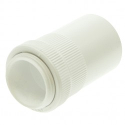 Univolt White 20mm PVC Male Adaptor