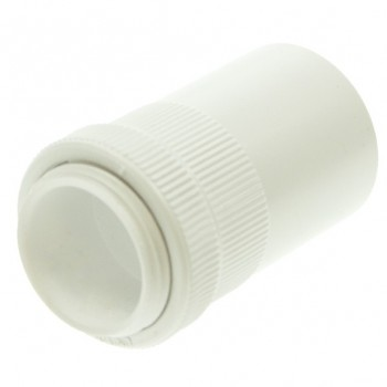 Univolt White 20mm PVC Male Adaptor
