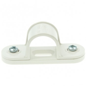 Univolt White 20mm PVC Spacer Bar Saddle