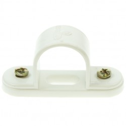 Univolt White 25mm PVC Spacer Bar Saddle