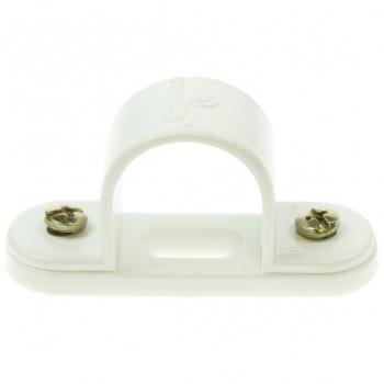 Univolt White 25mm PVC Spacer Bar Saddle