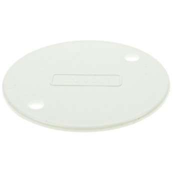 Univolt White 65mm PVC Circular Box Lid