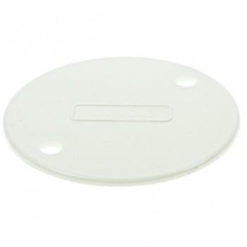 Univolt White 65mm PVC Circular Box Lid