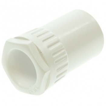Univolt White 25mm PVC Adaptor