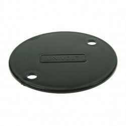 Univolt Black 65mm PVC Circular Box Lid