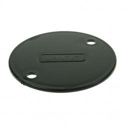 Univolt Black 65mm PVC Circular Box Lid