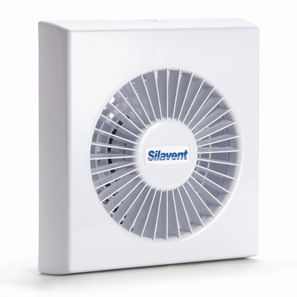 Silavent white 6inch wall and ceiling extractor fan with for 6 bathroom extractor fan with timer
