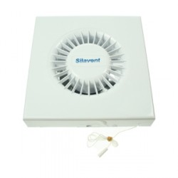 Silavent White 4inch Wall and Ceiling Extractor Fan with Pullcord