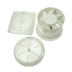 Silavent White 6inch Low Profile Timed Extractor Fan