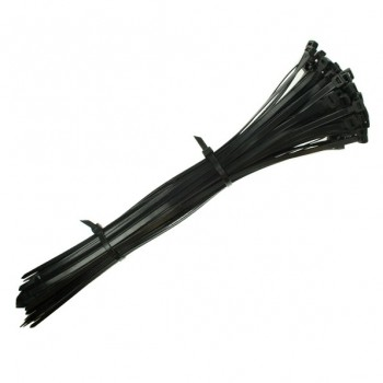 370x4.8mm Black Cable Ties