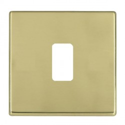 Hamilton Hartland CFX Grid Polished Brass 1 Gang Concealed Fix Grid Fix Aperture Plate with Grid