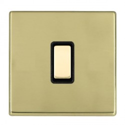 Hamilton Hartland CFX Polished Brass 1 Gang Multi way Touch Master Trailing Edge with Black Insert