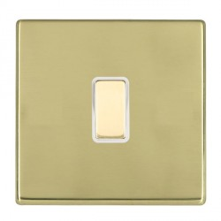 Hamilton Hartland CFX Polished Brass 1 Gang Multi way Touch Slave Trailing Edge with White Insert