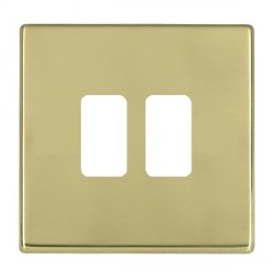 Hamilton Hartland CFX Grid Polished Brass 2 Gang Concealed Fix Grid Fix Aperture Plate with Grid