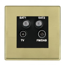 Hamilton Hartland CFX Polished Brass TV+FM+SAT+SAT (DAB Compatible) with Black Insert