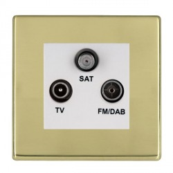 Hamilton Hartland CFX Polished Brass TV+FM+SAT (DAB Compatible) with White Insert