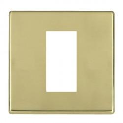 Hamilton Hartland CFX EuroFix Plates Polished Brass Single Plate c/w 1 EuroFix Apertures + Grid