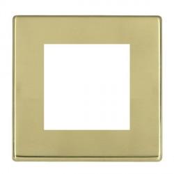 Hamilton Hartland CFX EuroFix Plates Polished Brass Single Plate c/w 2 EuroFix Apertures + Grid