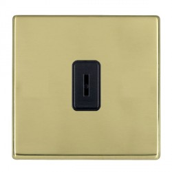 Hamilton Hartland CFX Polished Brass 1 Gang 2 Way Key Switch with Black Insert