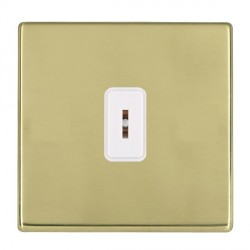 Hamilton Hartland CFX Polished Brass 1 Gang 2 Way Key Switch with White Insert